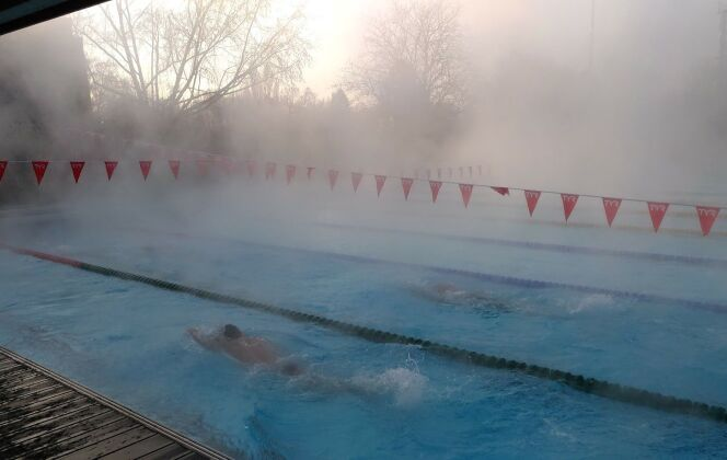 L'entraînement aura duré seulement 45 minutes, les nageurs ayant une compétition le lendemain. DR