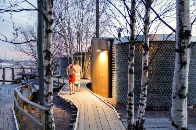 L'entrée du sauna