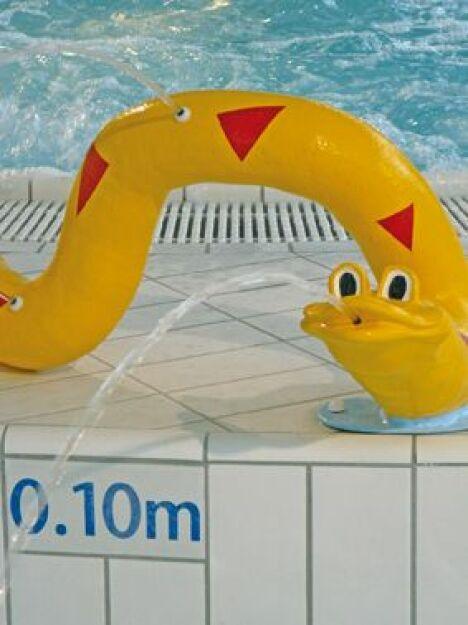 """L'espace aquatique de Rozanduc à Rosporden met à disposition des jeux pour les enfants.<span class=""""normal italic petit"""">DR</span>"""