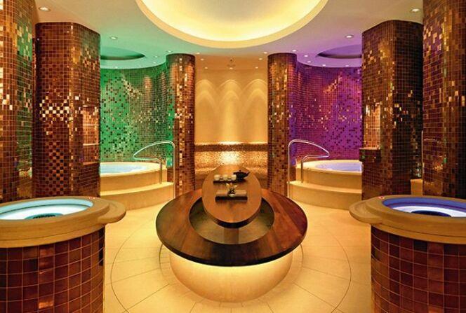 L'espace bien-être du Doler Grand Hotel, en Suisse
