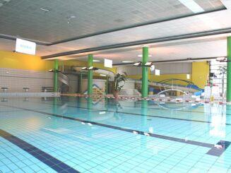 L'espace intérieur du stade nautique de Pessac