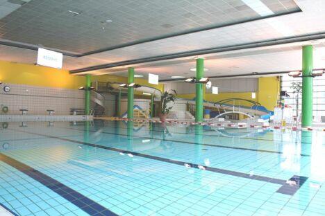 """L'espace intérieur du stade nautique de Pessac<span class=""""normal italic petit"""">DR</span>"""