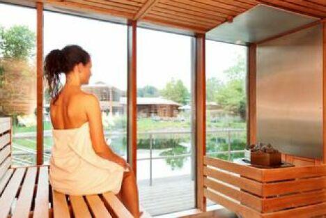 L'espace sauna du complexe thermal-minéral Keidel