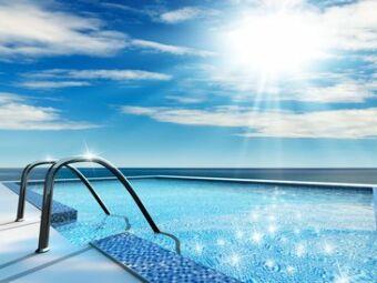 L'évaporation de l'eau de la piscine