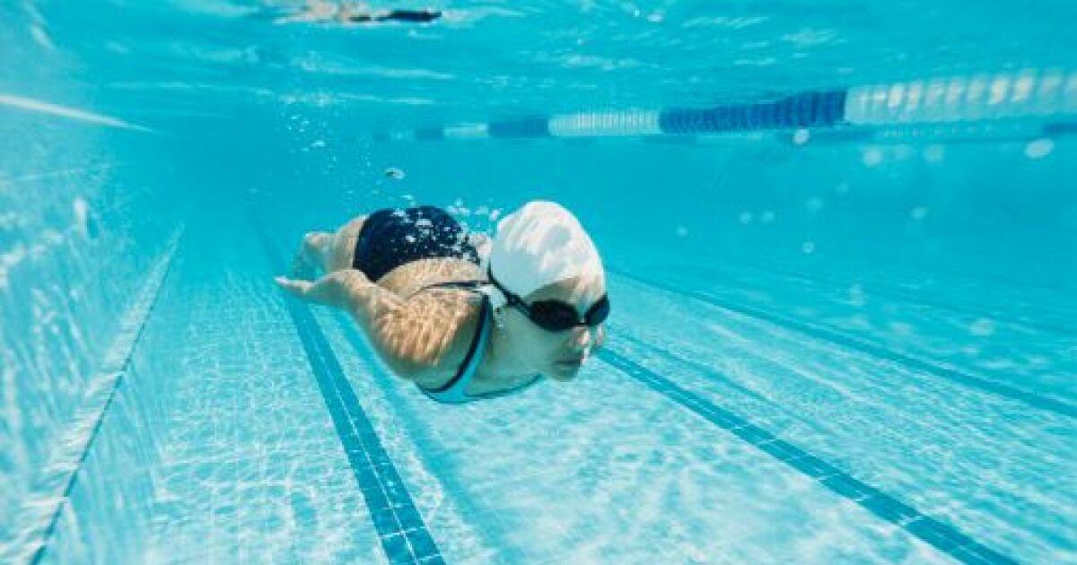 Exceptionnel L'exercice de la vrille en natation PL91