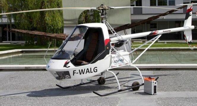 """L'hélicoptère Volta, 100% électrique, conçu par Aquinea<span class=""""normal italic petit"""">© Aquinea</span>"""