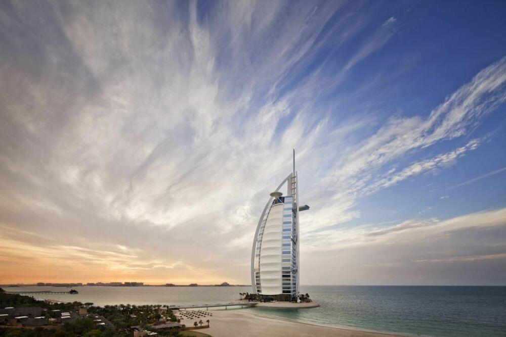 L'hôtel Burj-al-Arab, en plein coeur du Golfe Persique© Hôtel Burj-al-Arab