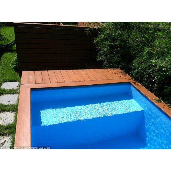 Super Une piscine faite avec un conteneur à ordures : l'idée récup du jour TV06