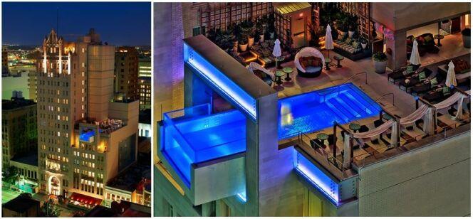 "L'impressionnante piscine du Joule Hotel (Dallas)<span class=""normal italic petit"">© flock-south.com</span>"