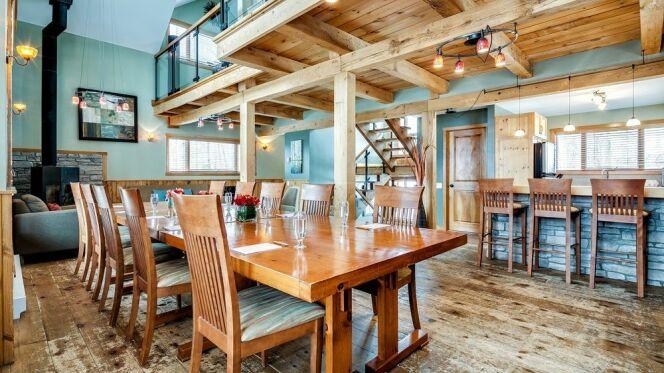 L'intérieur d'un Lounge du Nordik Spa Nature