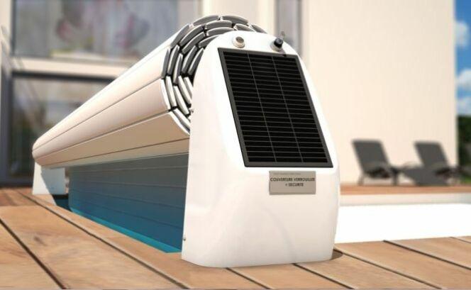 """L'Open Solar 2, le volet hors sol solaire design par Abriblue<span class=""""normal italic petit"""">© Abriblue</span>"""