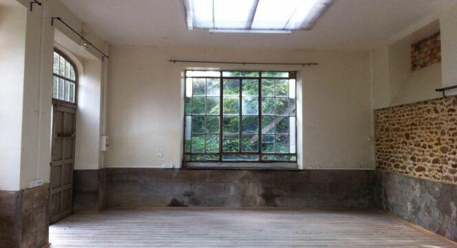 L'orangerie vue de l'intérieur avant les travaux.
