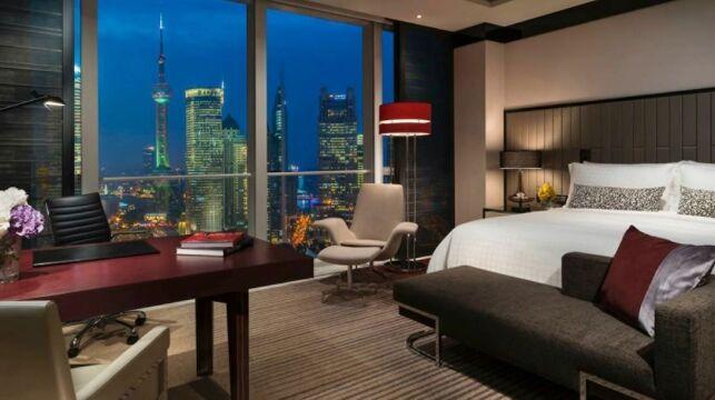 L'une des chambres du Four Seasons Hôtel à Shanghai