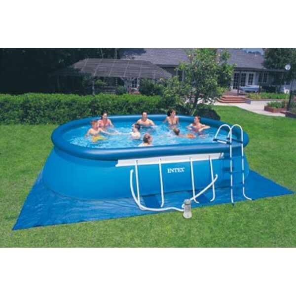 Piscine autoport e rectangulaire intex for Piscine demontable rectangulaire