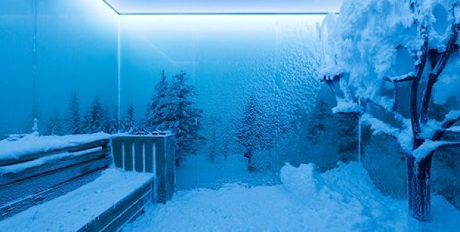 """La cabine à neige<span class=""""normal italic petit"""">© Area Sana</span>"""