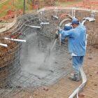 La construction d'une piscine en béton