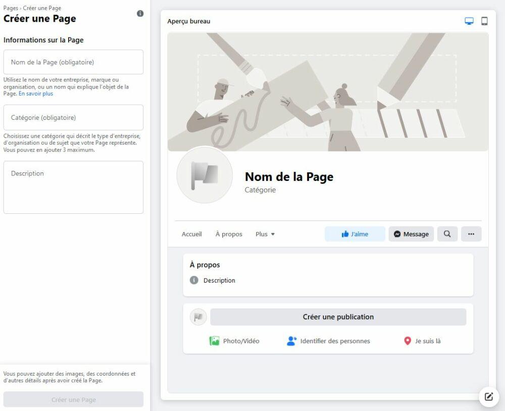 La création de votre page FacebookDR
