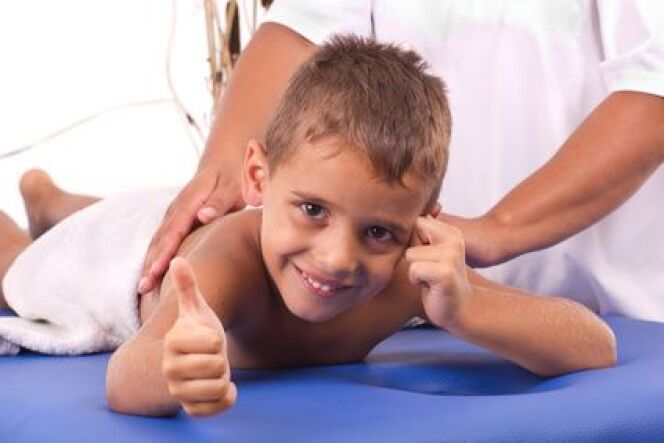 La cure thermale pour enfants.