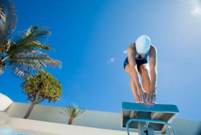 """La disqualification en compétition de natation<span class=""""normal italic petit"""">DR</span>"""