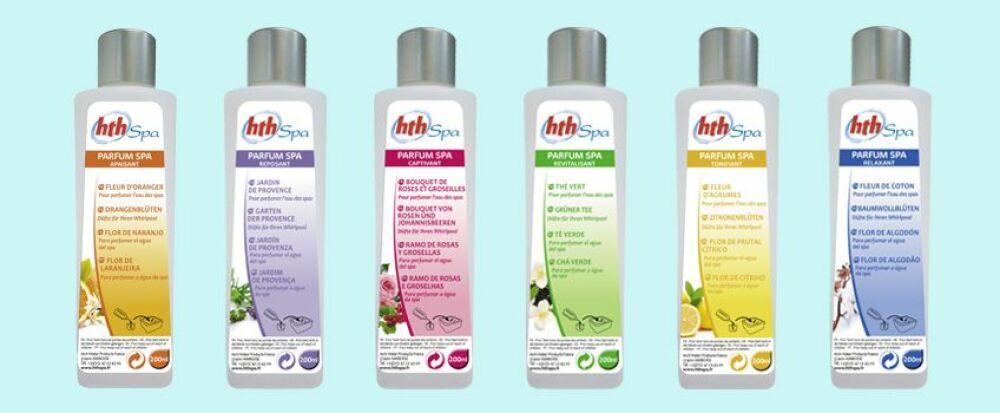La gamme de parfums pour spa d'HTH© http://blog.jardideco.fr
