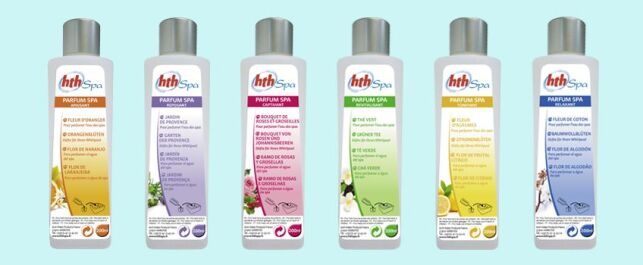 La gamme de parfums pour spa d'HTH