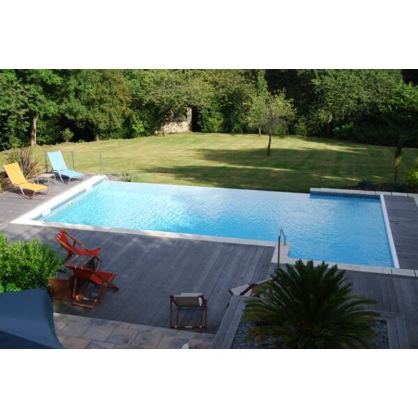 La goulotte de piscine syst me indispensable pour for Piscine miroir plan