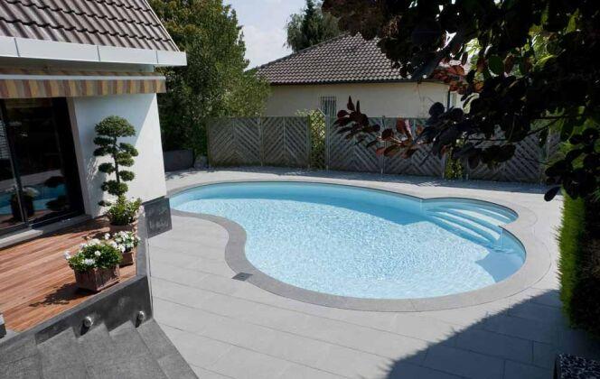 La mini piscine Céline trouve sa place sur les terrains résidentiels urbains © Waterair