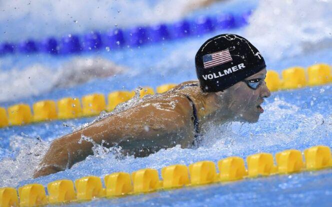 """La nageuse américaine Dana Vollmer est enceinte de 6 mois.<span class=""""normal italic petit"""">DR</span>"""