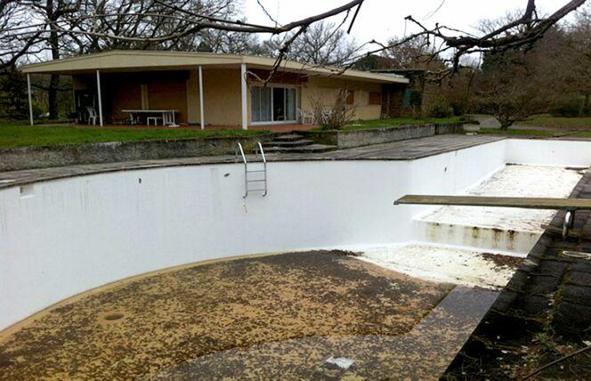 La piscine avant rénovation.