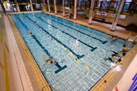 """La piscine de Cauterets<span class=""""normal italic petit"""">DR</span>"""