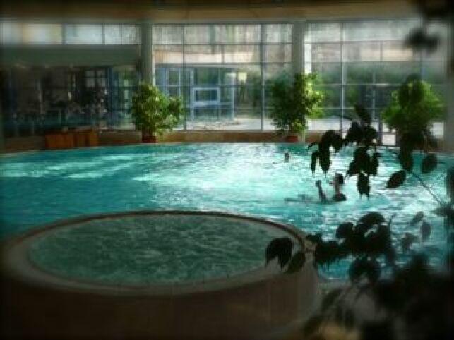 La piscine de La Cour de Honau permet de nager dans une eau chauffée à 30°