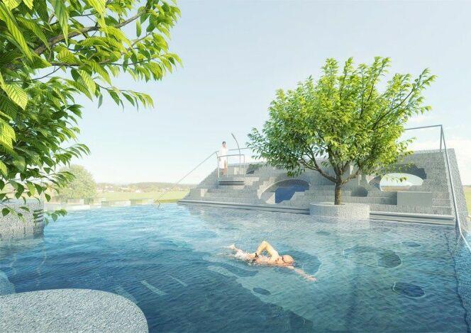 La piscine de la Y-House