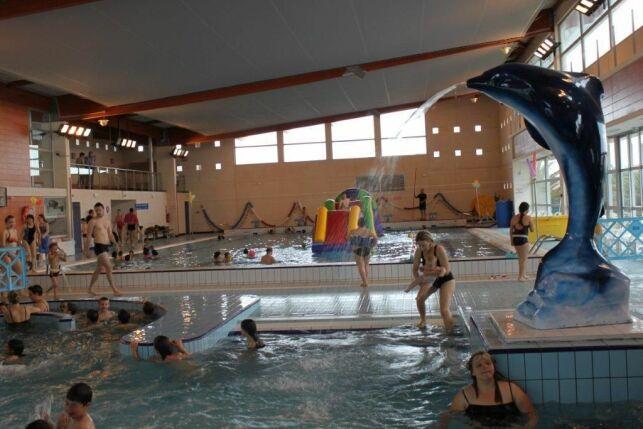 La piscine de Port la Nouvelle durant une séance de jardin aquatique.