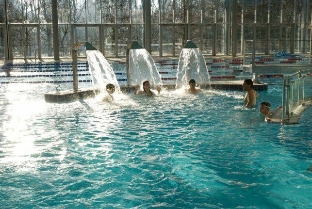 La piscine du Petit-Port à Nantes et ses jets d'eau