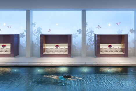 """La piscine du spa Mandarin Oriental à Paris (1er)<span class=""""normal italic petit"""">DR</span>"""