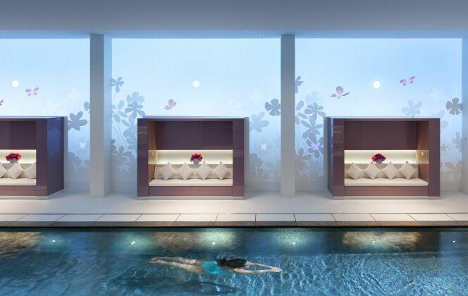 La piscine du spa Mandarin Oriental à Paris (1er) DR