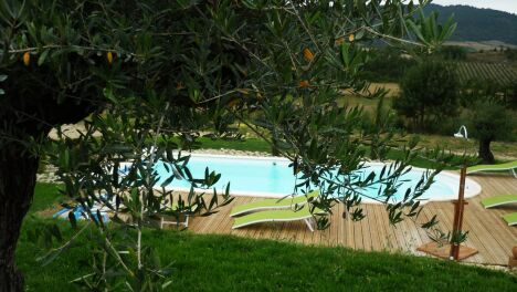 """La piscine extérieure du spa """"Relais de l'Alsou"""" à Labastide en Val<span class=""""normal italic petit"""">DR</span>"""