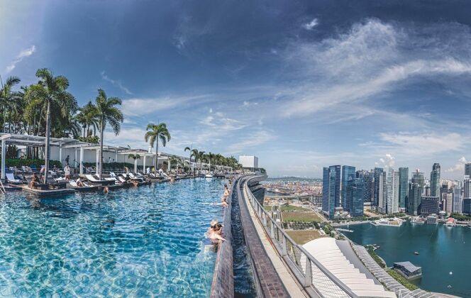 La piscine infinie du Marina Bay Sands, Singapore © Flickr Rob M