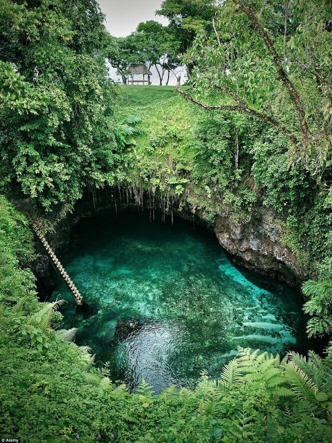 La piscine naturelle offre une expérience de nage unique.