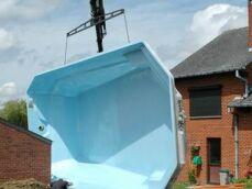 La piscine polyester : livraison, installation, pose de la coque