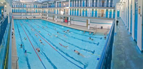 """La piscine Pontoise à Paris se situe dans le 5ème arrondissement.<span class=""""normal italic"""">© Gérard Sanz / DJS / Mairie de Paris</span>"""