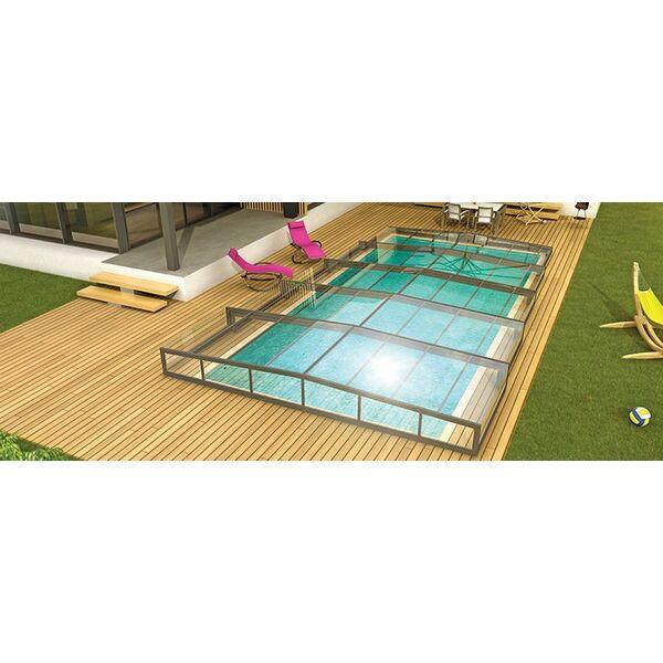 La pose d un abri de piscine 1 avec abri de piscine for Abri piscine rideau
