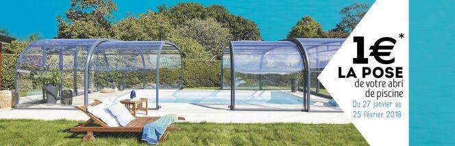 La pose de votre abri de piscine à 1€ avec Abri de Piscine Rideau