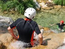 La pratique du canyoning