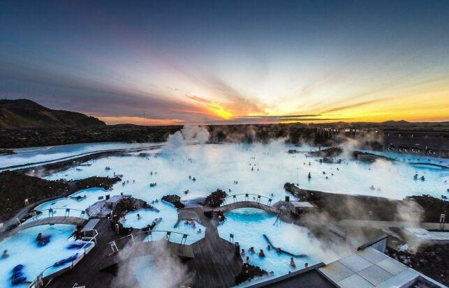 La station thermale du Blue Lagon à Grindavik en Islande