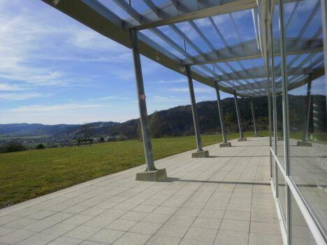 """La vue du Centre Nautique du Val de Morteau à Les Fins<span class=""""normal italic petit"""">DR</span>"""