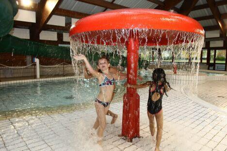La piscine de Bourtzwiller à Mulhouse possède un champignon arroseur.