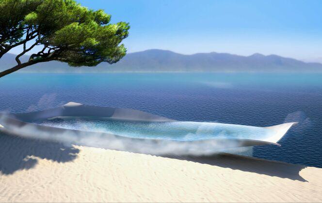 La piscine design Flying Pool de Diffazur avec vue sur mer : la piscine de demain dès aujourd'hui ! © Diffazur