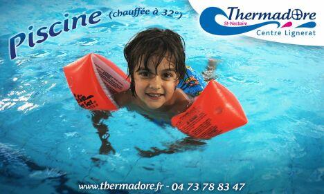 """La piscine Thermadore à Saint Nectaire est chauffée à 32° <span class=""""normal italic petit"""">DR</span>"""