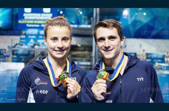 Laura Marino et Matthieu Rosset étaient en forme !  © Le Progrès